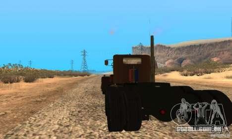 Duel Peterbilt para GTA San Andreas esquerda vista