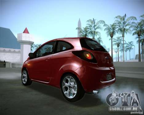 Ford Ka 2011 para GTA San Andreas vista interior