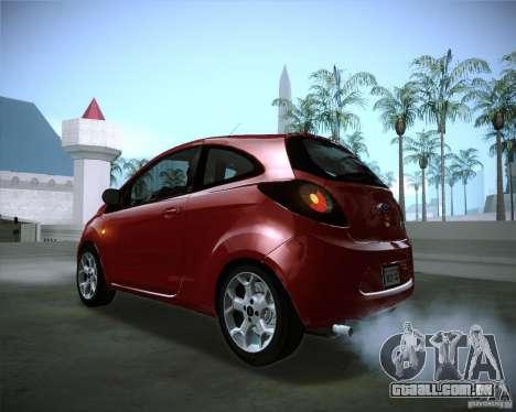 Ford Ka 2011 para GTA San Andreas vista interior