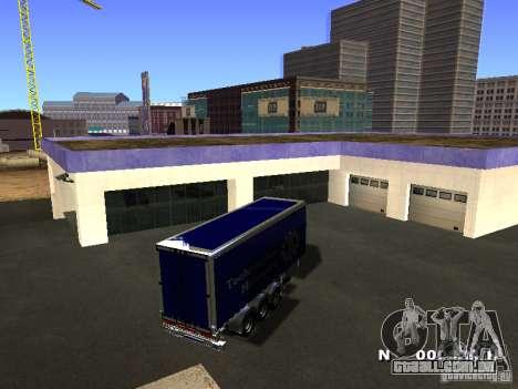 Trailer de Iveco Stralis para GTA San Andreas esquerda vista