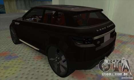 Land Rover LRX para GTA San Andreas vista direita