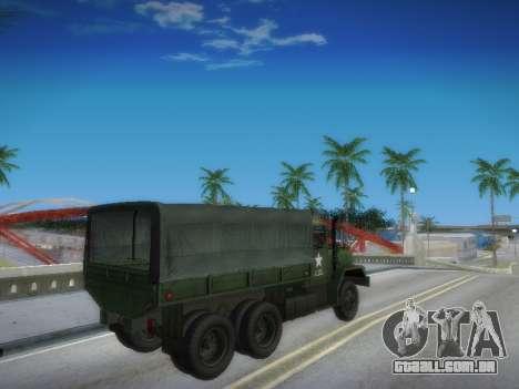 AM General M35A2 para GTA San Andreas vista interior