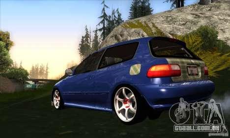 Honda Civic EG5 para GTA San Andreas traseira esquerda vista