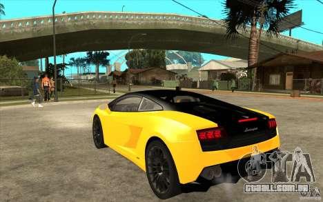 Lamborghini Gallardo LP560 Bicolore para GTA San Andreas traseira esquerda vista