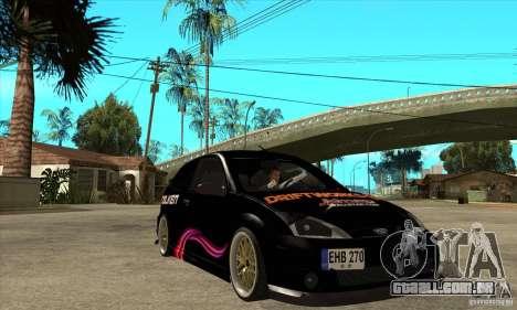 Ford Focus SVT para GTA San Andreas vista traseira