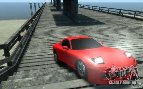 Mazda RX-7 v1 para GTA 4 vista de volta