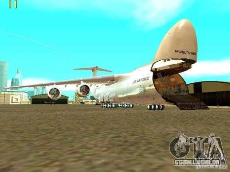 Lockheed C-5M Galaxy para GTA San Andreas traseira esquerda vista
