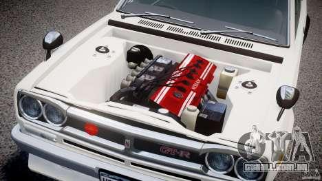 Nissan Skyline 2000 GT-R para GTA 4 vista interior