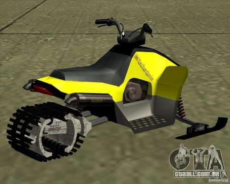 Snowmobile para GTA San Andreas esquerda vista