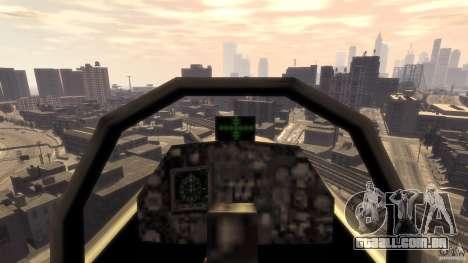 Liberty City força aérea Jet (com engrenagem) para GTA 4 vista de volta