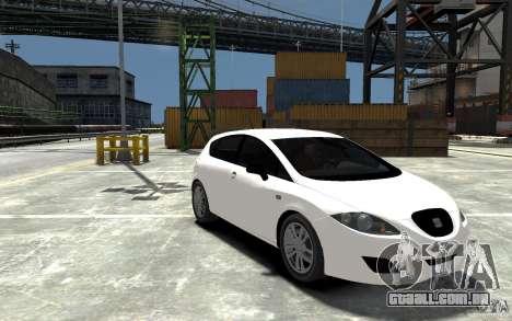 Seat Leon Cupra Light Tuning para GTA 4 vista de volta