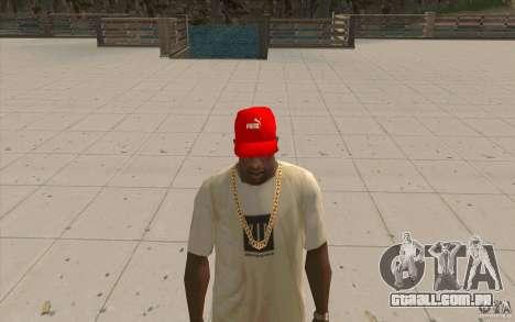 Vermelho brilhante de boné Puma para GTA San Andreas segunda tela