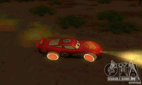 MCQUEEN from Cars para GTA San Andreas vista interior