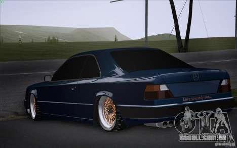 Mercedes-Benz W124 Low Gangster para GTA San Andreas esquerda vista