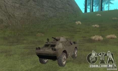 Versão de inverno BRDM-2 para GTA San Andreas esquerda vista