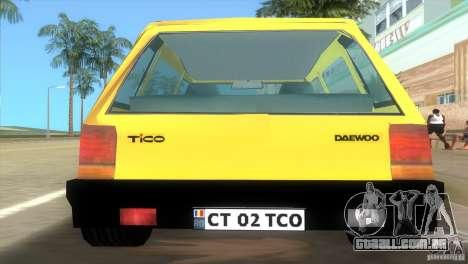 Daewoo Tico para GTA Vice City deixou vista