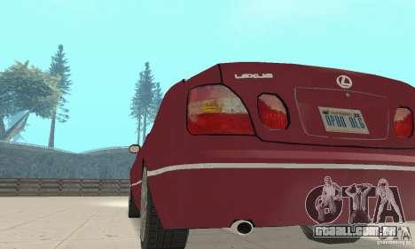 Lexus GS430 1999 para GTA San Andreas vista traseira