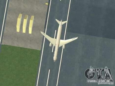 Airbus A350-900 Singapore Airlines para GTA San Andreas vista interior