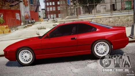 BMW 850i E31 1989-1994 para GTA 4 vista inferior