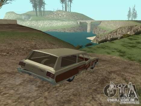 Chrysler Town and Country 1967 para vista lateral GTA San Andreas
