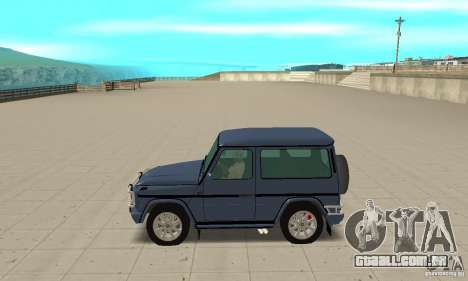 Mercedes-Benz G500 1999 Short [with kangoo v1] para GTA San Andreas esquerda vista