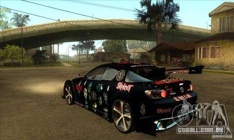 Mazda RX8 Slipknot Style para GTA San Andreas traseira esquerda vista