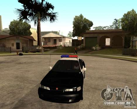 Honda Integra 1996 SA POLICE para GTA San Andreas vista interior