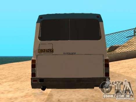LAZ 52527 para GTA San Andreas traseira esquerda vista