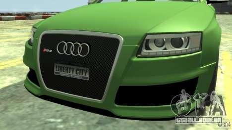 Audi RS6 Avant 2010 Stock para GTA 4 vista direita