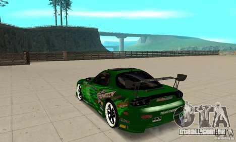 Mazda RX-7 ings para GTA San Andreas traseira esquerda vista