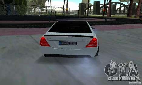 Mercedes-Benz S65 AMG Edition para GTA San Andreas vista traseira
