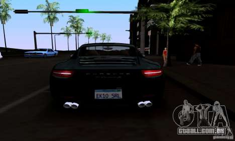 Porsche 911 Carrera S para GTA San Andreas vista inferior