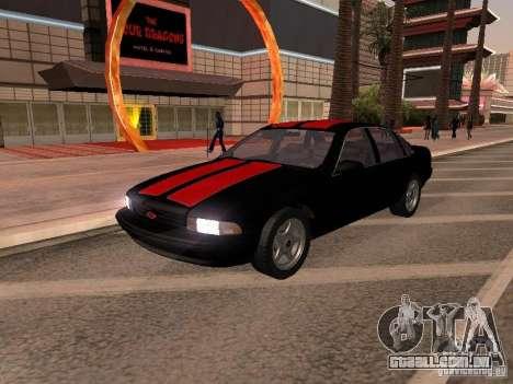 Chevrolet Impala SS 1995 para GTA San Andreas vista interior