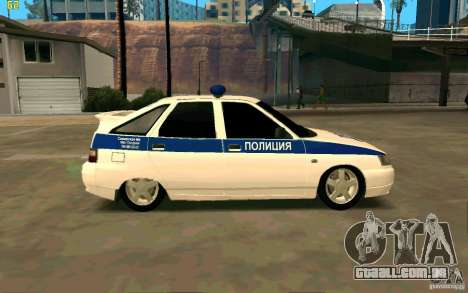 Polícia VAZ-2112 para GTA San Andreas esquerda vista