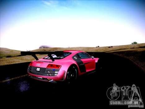 Audi R8 LMS v2.0 para GTA San Andreas vista traseira