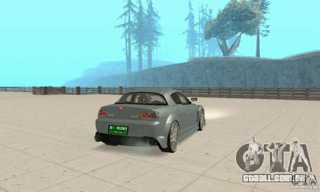 Mazda RX-8 Tuning para GTA San Andreas traseira esquerda vista