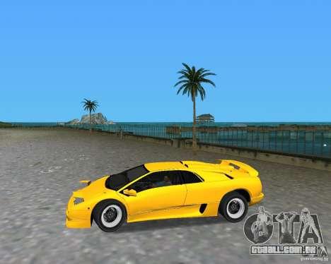 Lamborghini Diablo SV para GTA Vice City vista direita