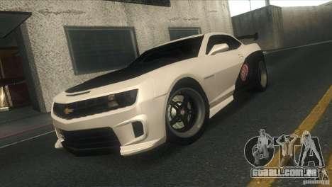 Chevrolet Camaro SS Dr Pepper Edition para GTA San Andreas vista inferior