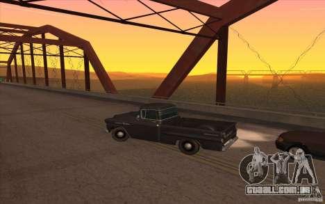 Chevrolet Apache Fleetside 1958 para GTA San Andreas esquerda vista