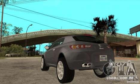 Alfa Romeo Brera de NFSC para GTA San Andreas traseira esquerda vista