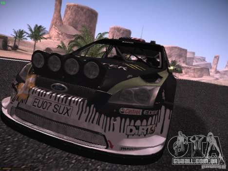 Ford Focus RS Monster Energy para GTA San Andreas