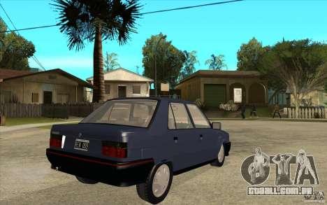Renault 9 Mod 92 TXE para GTA San Andreas vista direita