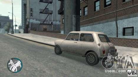 Mini Cooper S para GTA 4 traseira esquerda vista