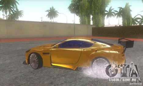 Aston Martin DB9 MW para GTA San Andreas vista direita