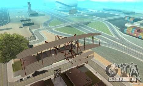 The Wright Flyer para GTA San Andreas vista interior