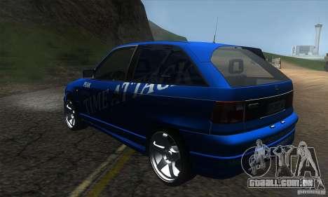 Opel Astra Time Attack para GTA San Andreas traseira esquerda vista