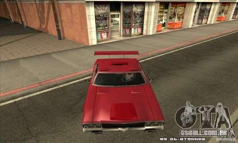 Sabre Drift para GTA San Andreas vista interior