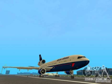 McDonell Douglas DC10 British Airways para GTA San Andreas esquerda vista