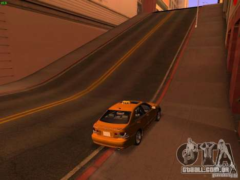 Lexus IS300 Taxi para GTA San Andreas esquerda vista