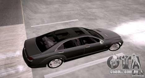 Mercedes-Benz S600 v12 para GTA San Andreas vista direita
